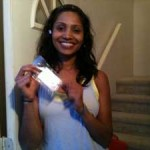 Happy Mr. Locksmith client after one of our processional locksmiths, have unlocked her door.